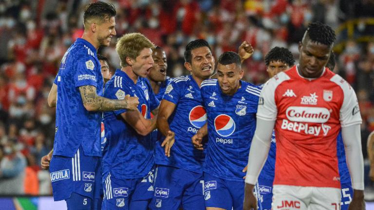 Millonarios ganó 0-2 contra Santa Fe