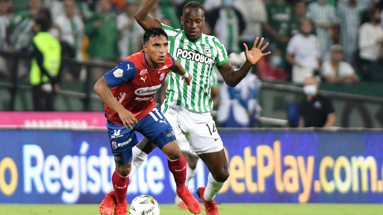 Nacional y Medellín empataron 1-1 en el clásico paisa. Foto: VizzorImage / Gabriel Aponte