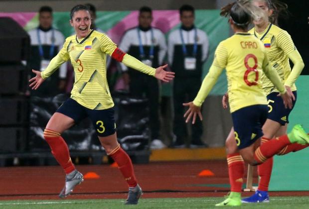Natalia Gaitán, capitana de la selección Colombia. / Foto: AFP