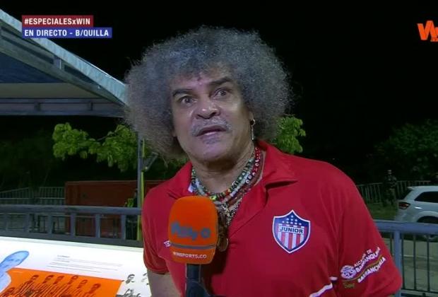 'El Pibe' Valderrama compartió con los micrófonos de Win Sports