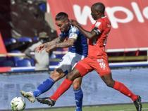 Cristian Arango perdió una opción de ataque frente a Graterol. / Foto: VizzorImage - Gabriel Aponte