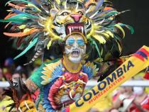Hincha de la selección Colombia en el Metropolitano. / Foto: VizzorImage - Jairo Cassiani